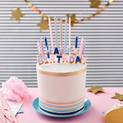 Kit déco bougies anniversaires girly x25