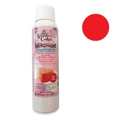 Spray effet velours rouge