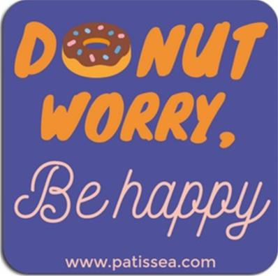Magnet Donut Worry, Be Happy